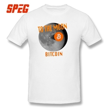 Buy T Shirts Bitcoin Moon Landing Moon Funny Tee Shirts Men's O Neck Short Sleeved 2017 Teenage Cotton Men T-Shirt for $11.70 in AliExpress store