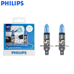 Philips H1 12V 55W P14.5s алмазное видение 5000K ксенон супер белый свет Галогенные лампы Автомобильные фары 12258DV S2, пара
