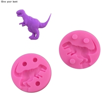 Dinosaur cartoon Cake Mold Silicone Fondant Cake Decorating Tools kitchen accessories confeitaria Jelly Chocolate Soap tool