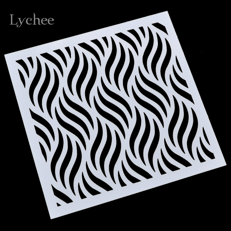 DIY Craft Wave Layering Stencils For Walls Painting Scrapbooking Stamping Stamps Album Decorative Embossing Paper Cards Crafts<br><br>Aliexpress