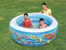 Bestway 51122 tricyclic pool inflatable pool underwater world children's pool of high-quality 156 * 53CM(China)