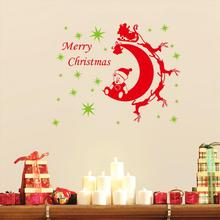 Christmas decorations wall stickers 3d removable vinyl wall decals festival home decoration PVC Wall Stickers for Kids xmas29(China)