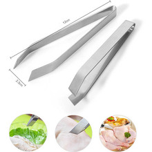 Stainless Steel Fish Tweezers Fish Bone Remover Pincer Puller Kitchen Cooking Tongs Practice Skin Removal Pincer Seafood Tools