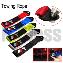 25cm Tow Strap with screw Universal High Quality Racing Car Tow Strap Towing Ropes Towing Bars for TRD straps style car styling
