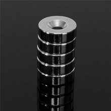 5pcs 15 mm x 5 mm Strong Ring Magnets Countersunk Hole 5 mm Rare Earth Neodymium Circular magnet Neodymium magnet Hot(China)