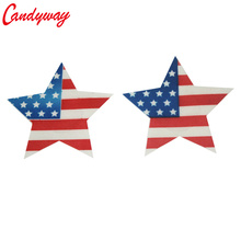 Star Shape Paste Breast American Flag Design Bra Adhesive erotic lingerie Stickers Nipple Cover Milk Paste for Sexy Women Ladies