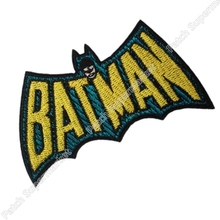 "Comics Batman Retro Uniform Logo Animated Series 4.25"" Costume Embroidered Emblem punk rockabilly applique sew on/ iron on patch"