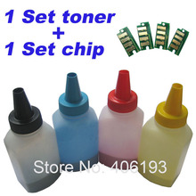 4 Toners + 4 Chips for Dell 1760 C1760 C1760nw C 1760nw 1765 C1765 C1765nf C1765nfw C 1765nf C 1765nfw refill color toner powder(China)