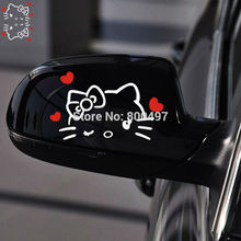 20 x Funny Hello Kitty Car Stickers Love Star Car Decal Rear View Mirror Car Body  for Tesla Toyota Ford  Volkswagen  Kia Lada