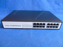 16 RJ45 10/100M 16 Port POE Switch Unmanaged Rack Mount Switch Built-in Power 24V CCTV Network Switch(China)