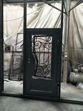 hand made custom design forged iron wrought iron doors for sale wid-2