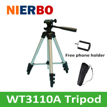 Professional Portable Aluminum Tripod Flexible Tripod Leg with Light Weight for SLR Camera DV Projector Phone Holder Free