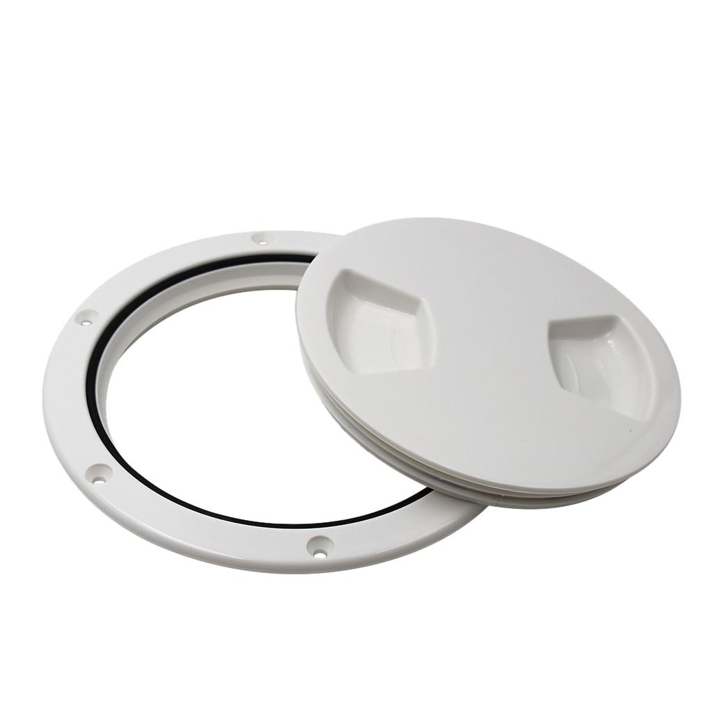 "6/"" deck plate WITH storage BAG white Twist turn Brand NEW Hatch w// compartment"