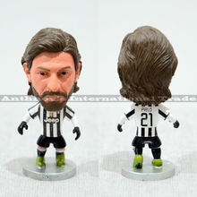 "1pec Soccer 21# PIRLO Blue Away (JUV) 2.5"" Dolls Figure Football Player Figurine christmas"