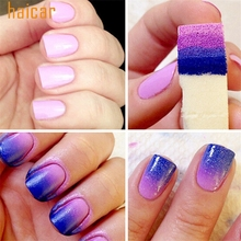 HAICAR ColorWomen 8pcs DIY  Nail Art Sponges Stamping Polish Template Transfer Manicure Tools 160715 Drop Shipping