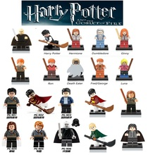 Single Sale Harry Potter Action Figures Hermione Granger Ron Lord Voldemort Draco Malfoy Blocks Gift Kids Toys legoing
