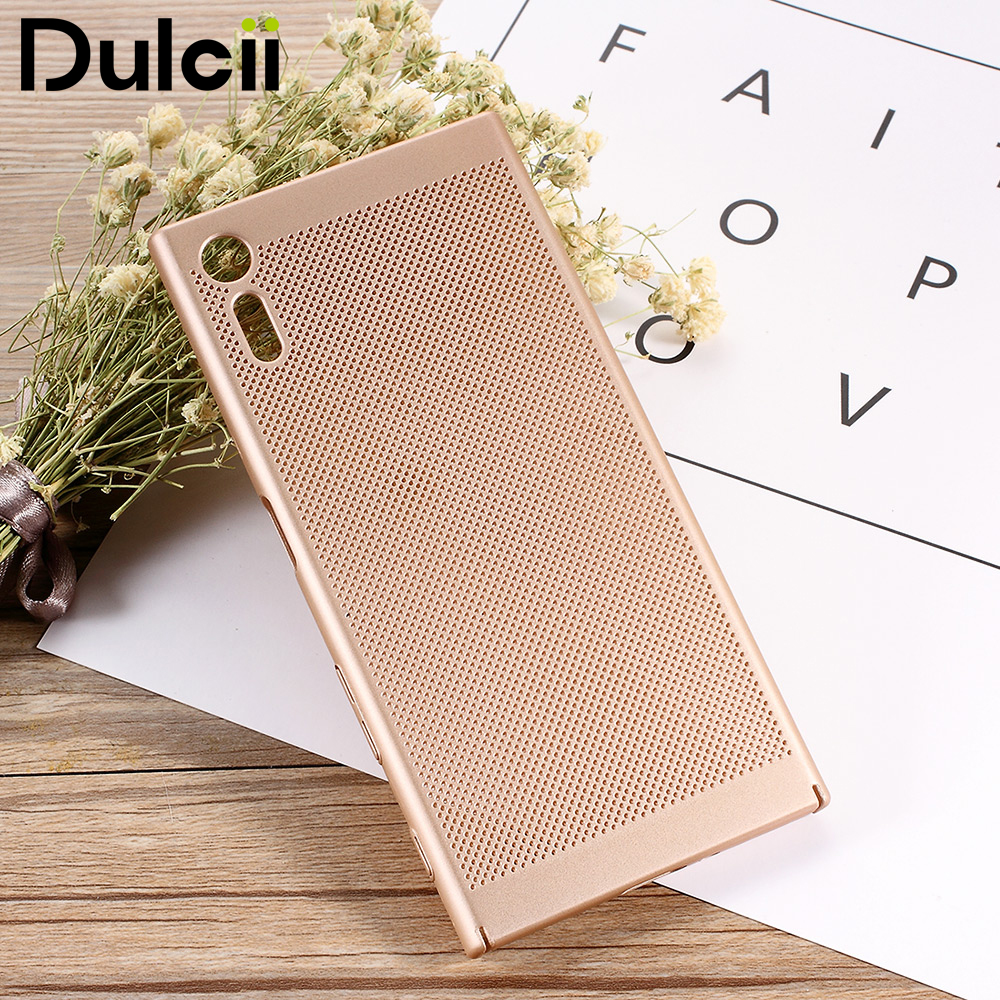 DULCII Sony Xperia XZs Case XZ Case Hollow Mesh Heat Dissipation Protective Phone Cover Capas Sony Xperia XZ Case Shells