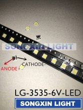 100pcs For LG Innotek LED New and Original LED 2W 6V 3535 Cool white LCD Backlight for TV Application(China)