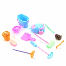 Set of 9Pcs Home Furniture Cleaner Furnishing Kit For Doll House Cleaning -B116(China)