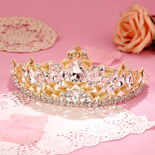 2016 new bride hair jewelry hair crown bride wedding accessories golden hair accessory tiaras and crowns prom jewelry for women