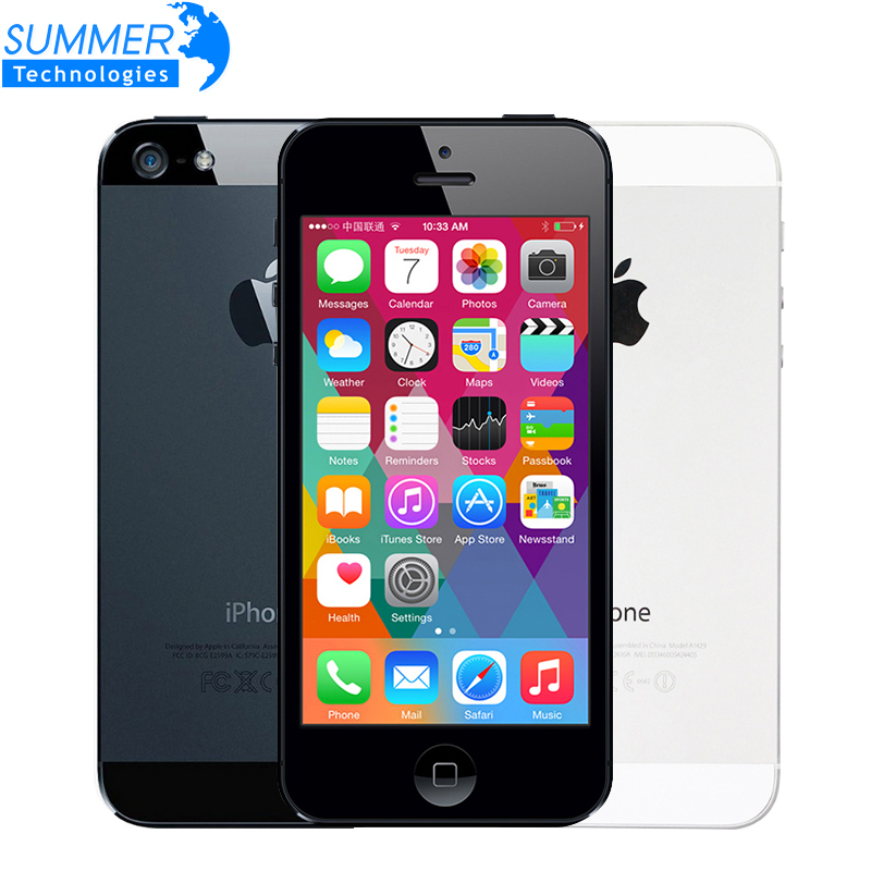 "iPhone5 Original Unlocked Apple iPhone 5 Mobile Phone 4"" 1G/16GB Used Phone 1080P WCDMA Smartphone GPS IOS iPhone5 Cell Phones(China (Mainland))"