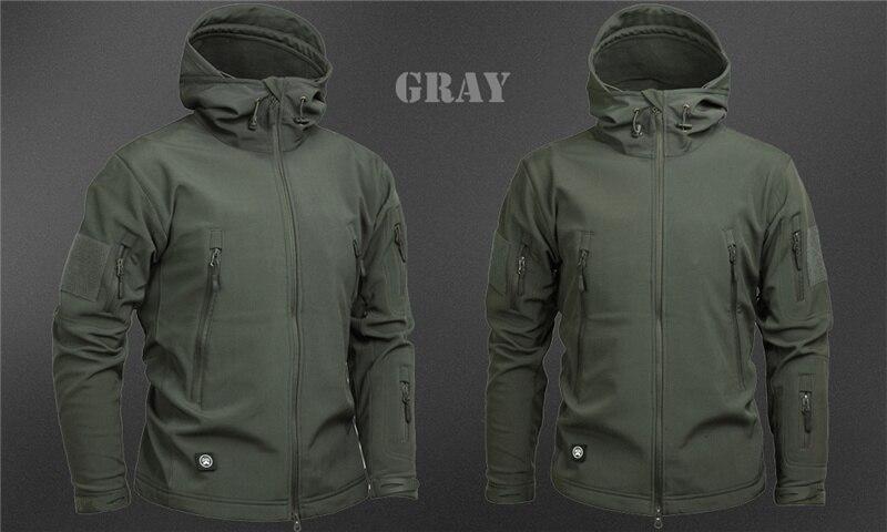 Mege Shark Skin Soft Shell Military Tactical Jacket Men Waterproof Army Fleece Clothing Multicam Camouflage Windbreakers 4XL 28