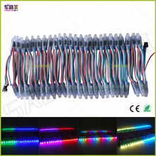 (50pcs/lot)DC5V 1903/WS2811/P9813/LPD6803/WS2801IC optionally led string led pixel module 12mm RGB Digital Full Color Waterproof(China)