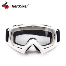 HEROBIKE Motorcycle Off-Road Racing Goggles Winter Skate Sled ATV Eyewear Motocross DH MTB Glasses Single Lens Clears - mama cao 's store