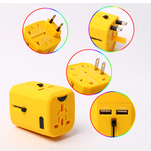 Corporate Gifts Travel Power Adapter Converter High Quality Uk Usa Eu Au Japan France Universal Travel Adapter With Usb Port