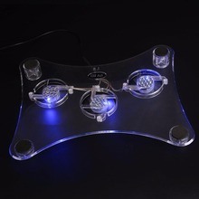 USB Blue Light 3 LED Cooler Stand For PS2/PS3/Xbox360 Video Game Console Gamepad Gaming Controller PC Laptop Professional Stands