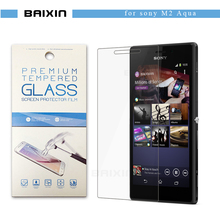 Tempered Glass Screen Protector for SONY XPERIA M2 S50h/M2 Aqua D2403 D2303 D2305 D2306 Protective Toughened Film+Retail packge
