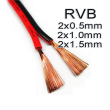 10M X 22 18 16AWG PVC Insulated Wire Black+Red, 10meters 2pin Copper Cable Electrical Wire For LED Extension Solar DIY Connect