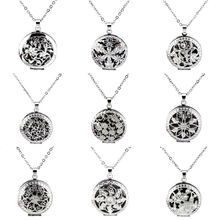 Buy 18'' Chain Silver Tone Aromatherapy Lockets Pendants Essential Oil Perfume Aroma Lotus Flower Locket Necklace Pads for $2.99 in AliExpress store