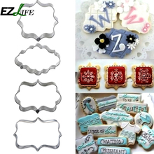 EZLIFE Silver Color Stainless Steel Cookie Cake Mold Mould Various Kinds Cake Cookie Mould Mold Cake Cookie Tools ZH01631