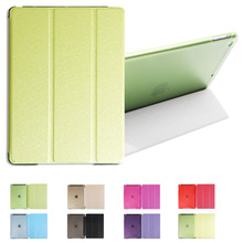 Case for iPad Air, 7 Color PU Transparent Back Ultra Slim Light Weight Trifold Smart Cover Case for iPad Air/iPad 5