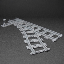 City Block NEW Toys for Children Building Blocks Rail Tracks for Train Straight Curved Tracks(China)