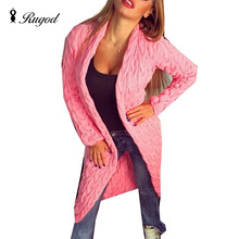 2017 New Autumn Winter Fashion Women Long Sleeve Loose knitted Cardigan Coat Female Solid Sweater Jumpers Outerwear pull femme