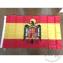 90x150cm Spanish Eagle Flag 100% Polyester Flying Hanging Spain Flag Home Decorative National Flags and Banners of Spain