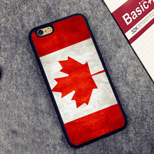 Canada National Nation Flag Printed Soft Rubber Mobile Phone Cases For iPhone 6 6S Plus 7 7 Plus 5 5S 5C SE 4S Cover Skin Shell