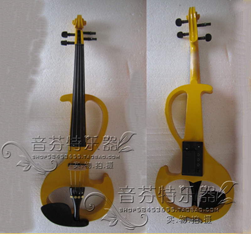 Electro-acoustic violin electronic violin electric violin yellow box -<br><br>Aliexpress