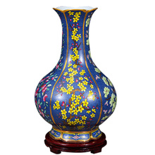 Jingdezhen Vase Floor Ceramic Blue Flowers Antique Large Vase Home Furnishing Articles Sitting Room Large Floor Vases(China)