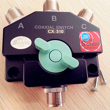 HAM Repeater Short-wave base radio 3 port DC-800 MHz manual aerial antenna switch CX-310 CB RADIO ANTENNA COAX SWITCH(China)