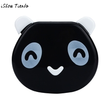 Cartoon Travel Glasses Contact Lenses Box Contact lens Case for Eyes Care Kit Cute Panda Candy Color organizador jewelry box