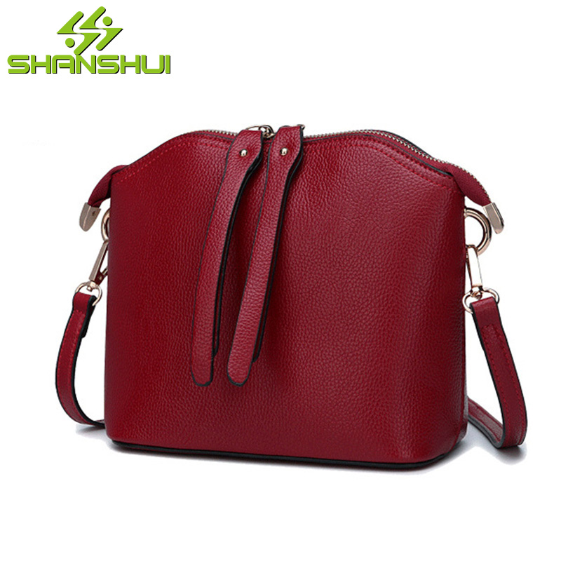 Women Genuine Leather Messenger Bag Shoulder Bag Solid Shell Clutch Bags Woman Small Zipper Crossbody Bag with Cellphone Pocket<br>