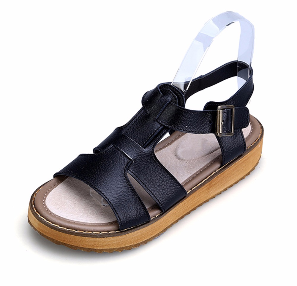 Katypeny 2017 Holiday Shoes Woman Summer Style Fashion Gladiator Thick Bottom Beach Flat Platform Sandals Clogs Plus Size Up 45 <br><br>Aliexpress