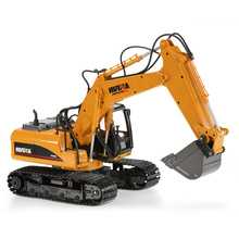HUI NA TOYS 2.4GHz 15Channel Engineering Electronic Excavator Construction RC Car Toy Model Children Remote Control RC Excavator(China)
