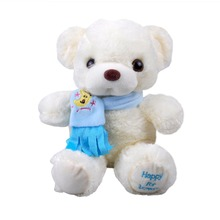 Birthday Valentines Gift Scarf Baby Bear Wedding Plush Toy High Quality Bear Doll 30cm gift Home Decoration(China)