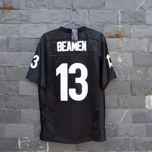 TIM VAN STEENBERGE Jamie Foxx Willie Beamen 13 Football Jersey Stitch Sewn-Black(China)