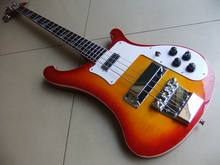Wholesale Best Quality 4 string 4003 electric bass guitar with stereo varitone jack in Cherry 110927(China)