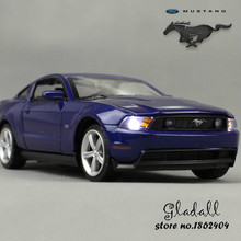 Hot Die-cast Model Car 1/32 scale car carros de metal toys for children/ kids w sound&light for ford mustang(China)
